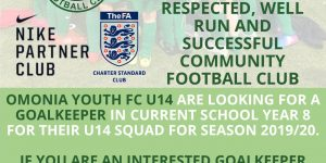 Omonia Youth Football Club – A FA Charter Standard Club