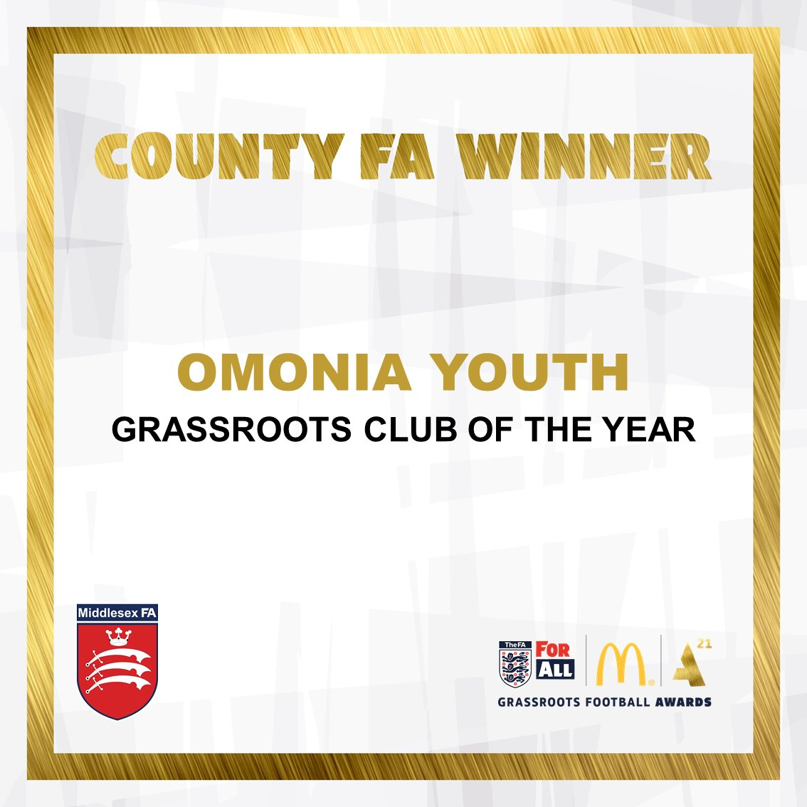 2021 Middlesex FA 'Club of the Year'